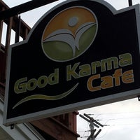 Photo taken at Good Karma Cafe by Jean-Luc H. on 7/13/2013