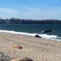 Photo taken at Southold Beach by Caroline E. on 1/20/2013