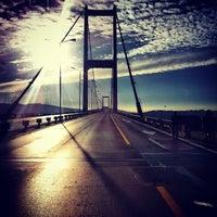 Photo taken at Bosphorus Bridge by Ceylan K. on 11/17/2013