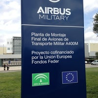 Photo taken at Airbus Military San Pablo Sur by Lizbet P. on 4/9/2013
