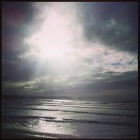 Photo taken at Playa de Salinas / San Juan de Nieva by Daniel G. on 4/9/2013