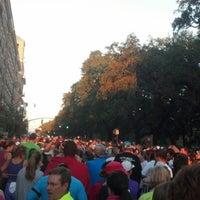 Photo taken at Rock n Roll Savannah Marathon Start by Mary M. on 11/3/2012