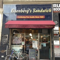 Photo taken at Eisenberg's Sandwich Shop by Eddie Q. on 2/22/2013