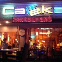 9/10/2013 tarihinde Merve E.ziyaretçi tarafından Cafeka Restaurant & Cafe'de çekilen fotoğraf