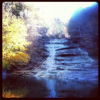 Photo taken at Buttermilk Falls State Park by Brandon A. on 10/22/2012