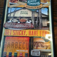 Photo taken at Sticky Fingers Ribhouse by David R. on 4/26/2013