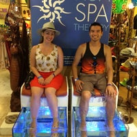Photo taken at Fish Spa Therapy by Louis M. on 9/15/2014