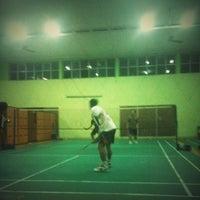 Photo taken at Lapangan Bulu Tangkis, STM Penerbangan by Khairil A. on 2/8/2013
