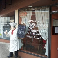 Photo taken at Pompilios Pizzeria and Restaurant by Scott J. on 2/16/2014