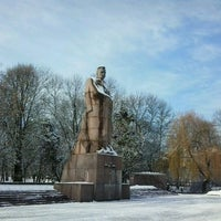 Photo taken at Пам'ятник Івану Франку / Ivan Franko Monument by Solemijus on 2/4/2013