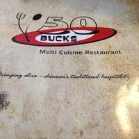 Photo taken at 50 Bucks Multi Cuisine Restaurant by Philip M. on 9/14/2012