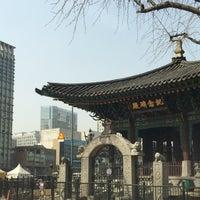Photo taken at 고종 즉위 40년 칭경기념비 by Jean P. on 3/30/2015