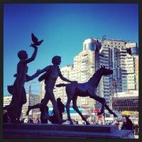 Photo taken at metro Pionerskaya by Sasha on 3/15/2013