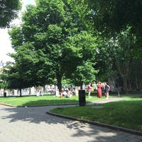 Photo taken at Bishop Lucey Park (The Peace Park) by Elena C. on 6/14/2014