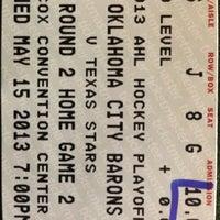 Photo taken at Oklahoma City Barons Hockey by Tiffany R. on 5/16/2013