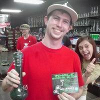 Photo taken at Inhale Smoke Shop by Blake B. on 5/5/2014