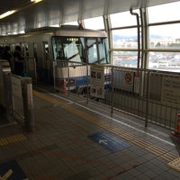 Photo taken at Osaka Monorail Hotarugaike Station by しゃほ ま. on 2/6/2016