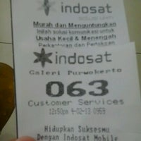 Photo taken at Indosat (Gallery Purwokerto) by Angeline S. on 4/2/2013