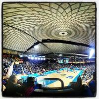 Photo taken at Palau Blaugrana by Oriol B. on 2/17/2013