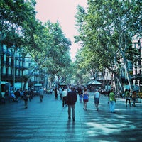 Photo taken at La Rambla by Oriol B. on 6/27/2013