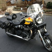 Photo taken at Riding A Triumph Speedmaster! by Rand R. on 3/30/2013