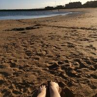 Photo taken at Playa del Castillo by Maria N. on 2/8/2017