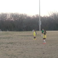 Photo taken at Corinth Soccer Fields by Erica M. on 3/13/2014