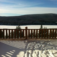 Photo taken at Lac Sacacomie by Hala C. on 1/9/2013