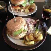 Photo taken at Rachel - Bagels & Burgers by Adel B. on 2/13/2013