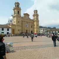 Photo taken at Basílica Nuestra Señora de Chiquinquirá by Diego C. on 10/14/2012