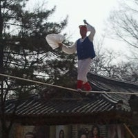 Photo taken at Korean Folk Village by Raysa R. on 4/4/2013