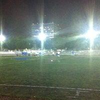 Photo taken at Cancha de Futbol de la Delegación Benito Juarez by Ivonne G. on 8/8/2013
