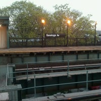 Photo taken at MTA Subway - Saratoga Ave (3) by Gary L. on 4/26/2013