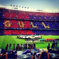 Photo taken at Camp Nou by Christina K. on 5/1/2013