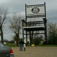 Photo taken at World's Largest Rocking Chair by Dianne M. on 11/11/2012