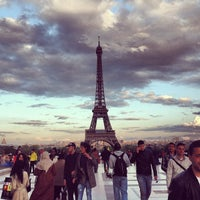 Photo taken at Place du Trocadéro by Anton S. on 5/10/2013
