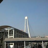 Photo taken at Kharghar Railway Station by Suman B. on 1/5/2013