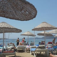 Photo taken at Peda Beach by UMUT Ç. on 6/8/2014