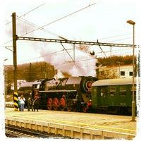 Photo taken at Železniční stanice Praha-Libeň by Lindik on 12/2/2012