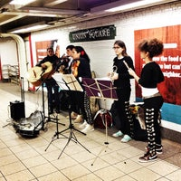Photo taken at MTA Subway - 14th St/Union Square (4/5/6/L/N/Q/R/W) by Izzy D. on 2/14/2013