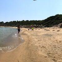 Photo taken at Mandraki beach by Riccardo I. on 7/10/2017