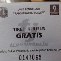 Photo taken at Halte TransJakarta Manggarai by Kang P. on 6/22/2013
