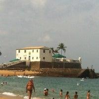 Photo taken at Praia do Porto da Barra by Marcos T. on 1/26/2013