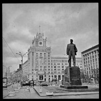 Photo taken at Triumfalnaya Square by Andrey B. on 4/28/2013