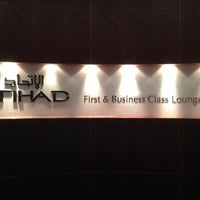 Photo taken at Etihad First Class Lounge & Spa by Bader A. on 4/11/2013