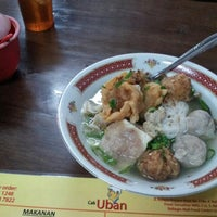 "Photo taken at Bakso & Bakwan Malang ""Cak Uban"" by Zarp H. on 4/15/2013"