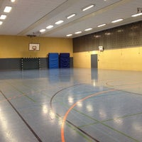 Photo taken at Sporthalle Herderschule by Jannis R. on 1/27/2014