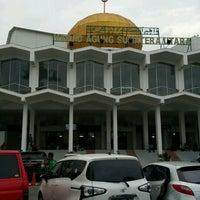 Photo taken at Masjid Agung Medan by amj on 11/27/2016