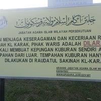 Photo taken at Tanah Perkuburan Islam Batu Muda by amj on 2/12/2018