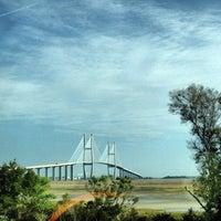 Photo taken at Sidney Lanier Bridge by Md B. on 3/19/2013